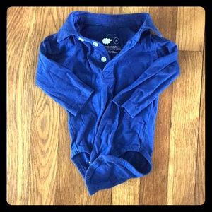 Primary 3-6 month long sleeve polo